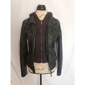 Full Tilt Jacket Hoodie Biker Black